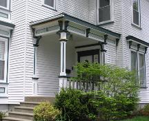 Frederick Prince House, Truro, porch detail, 2004; Heritage Division, N.S. Dept. of Tourism, Culture and Heritage, 2004