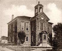 West facade of Victoria School c.1900s;
