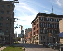 Contextual view, from the northeast, of the Garry Telephone Exchange Building, Winnipeg, 2005; Historic Resources Branch, Manitoba Culture, Heritage and Tourism 2005