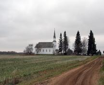 Contextual view, from the northeast, of Ste. Therese Roman Catholic Church, Cardinal, 2006; Historic Resources Branch, Manitoba Culture, Heritage and Tourism, 2006