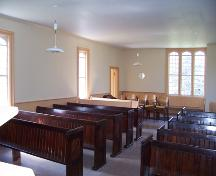 Interior view of St. George's Anglican Church, Glenora, 2005; Historic Resources Branch, Manitoba Culture, Heritage and Tourism, 2005