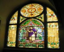 Stained glass window in the New Stockholm Lutheran Church, 2006.; Government of Saskatchewan, Brett Quiring, 2006.