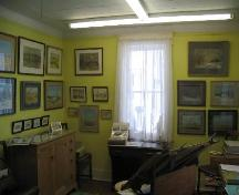 Dr. Luthi's former studio which now houses a gallery of his landscape paintings, 2007.; Government of Saskatchewan, Brett Quiring, 2007.