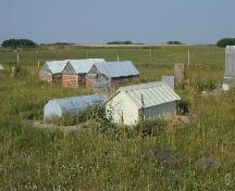 View looking east to the RM of Tullyment side of the Jewish Cemetery, 2003.; Government of Saskatchewan, Bernie Flaman, 2003