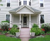 C. A. MacQuarrie House, porch detail, 2004; Heritage Division, NS Dept. of Tourism, Culture and Heritage, 2004