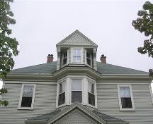 C. A. MacQuarrie House, central bay and dormer, 2004; Heritage Division, NS Dept. of Tourism, Culture and Heritage, 2004
