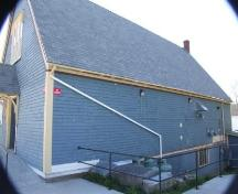East elevation, Heritage Hall, Shelburne, Nova Scotia, 2007. ; Heritage Division, NS Dept. of Tourism, Culture and Heritage, 2007.