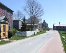 Looking south down Dock Street from the Patrick McDonough House, Shelburne, Nova Scotia, 2007. ; Heritage Division, NS Dept. of Tourism, Culture and Heritage, 2007.