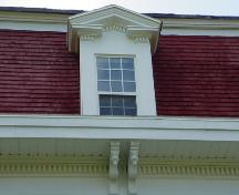 Dormer with pediment and dentils; Town of St. Stephen