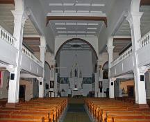 Interior view of Ste. Anne Roman Catholic Church, Ste. Anne, 2006; Historic Resources Branch, Manitoba Culture, Heritage and Tourism, 2006