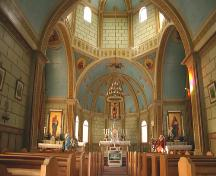 View of the interior of St. Nicholas Ukrainian Catholic Church, Rackham area, 2006; Historic Resources Branch, Manitoba Culture, Heritage and Tourism, 2005