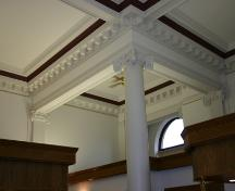 Interior view of a ceiling at the Merchants Bank Building, Brandon, 2005; Historic Resources Branch, Manitoba Culture, Heritage & Tourism 2005