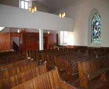 Interior view of Kildonan Presbyterian Church, Winnipeg, 2005; Historic Resources Branch, Manitoba Culture, Heritage and Tourism, 2005