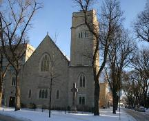 View, from the west, of First Presbyterian Church, Winnipeg, 2005; Historic Resources Branch, Manitoba Culture, Heritage & Tourism 2005