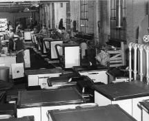 Stove manufacturing  - assembly line; Phyllis Stopps