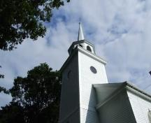 Bell tower and spire, St. Luke's Anglican Church, Annapolis Royal, Nova Scotia, 2006. ; Heritage Division, NS Dept. of Tourism, Culture and Heritage, 2006.