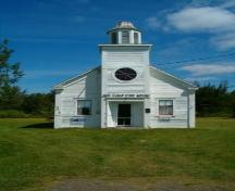 Front elevation, Minudie School Museum, Minudie, Nova Scotia, 2005.; Heritage Division, NS Dept. of Tourism, Culture and Heritage, 2005.