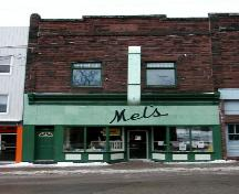 Mel's Tea Room - Front façade - Building in business area ; Town of Sackville