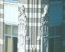 Close-up of gargoyles on NE corner; Government of Saskatchewan, Frank Korvemaker, 1986