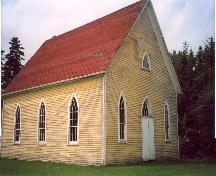 Showing Gothic Revival windows on the front elevation; Province of PEI
