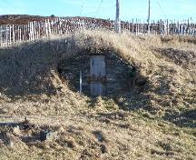 Exterior front view of George Pearce Root Cellar, Circular Road, Maberly, Elliston, NL, 2000; Tourism Elliston Inc., 2007