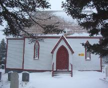View of St. Mary's Anglican Church and Cemetery, Elliston, showing front of church, 2006/01/12; L Maynard, HFNL, 2007
