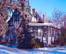 Exterior southwest view of the Allen Bungalow (December 2003); City of Red Deer, 2003