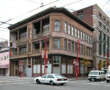 Exterior view of Chinese Freemasons Building; City of Vancouver, 2004