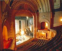 Interior photo of Walker Theatre, 1990.; Roland Huemmer, Winnipeg, 1990.