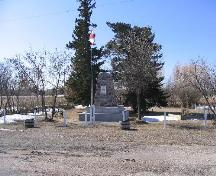 View of the fieldstone monument and and bronze plaque at the Cenotaph Site; Government of Saskatchewan, Brett Quiring, 2007.