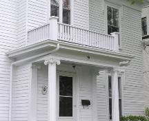 Richard Smith House, porch detail, 2004; Heritage Division, NS Dept. of Tourism, Culture and Heritage, 2004