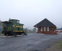 North elevation, CN Train Station, Sydney Mines, Nova Scotia, 2007.; Heritage Division, NS Dept. of Tourism, Culture and Heritage, 2007.