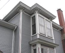 William J. Kent House, west bay and eave detail, 2004; Heritage Division, NS Dept. of Tourism, Culture, and Heritage, 2004