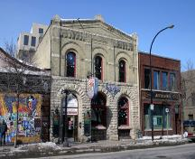 Primary Elevation, from the southeast, of the Sparling Sales Ltd. Building, Winnipeg, 2006; Historic Resources Branch, Manitoba Culture, Heritage and Tourism 2006