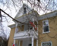 Balcony of Melita United Church Manse, Melita, 2005; Historic Resources Branch, Manitoba Culture, Heritage and Tourism 2006