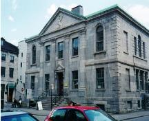 General view of the Former Montréal Custom House, showing the façade, 1997.; Parks Canada Agency/Agence Parcs Canada, N. Clerk, 1997.