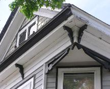 Horace G. Mosher House, eave detail, 2004; Heritage Division, NS Dept. of Tourism, Culture and Heritage, 2004