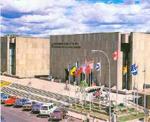 General view of Confederation Centre of the Arts.; Frank MacKinnon, Honour the Founders! Enjoy the Arts!, Fathers of Confederation Buildings Trust, Charlottetown, 1990, p.67.
