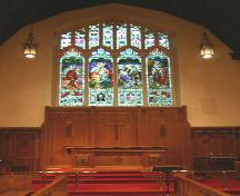 Interior view of an altar window in the Cathedral Church of Saint John, Winnipeg, 2005; Historic Resources Branch, Manitoba Culture, Heritage and Tourism, 2005