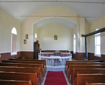 Interior view of Stony Hill Otto Lutheran Church, Lundar area, 2006; Historic Resources Branch, Manitoba Culture, Heritage and Tourism 2006