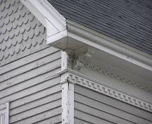 Henry Lawrence House, eave detail 2004; Heritage Division, NS Dept. of Tourism, Culture, and Heritage, 2004