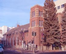 Exterior southeast view of the Red Deer Armoury / Fire Hall No. 1 (December 2003); City of Red Deer, 2003