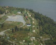 Aerial view of the York Redoubt National Historic Site of Canada; Parks Canada Agency/Agence Parcs Canada