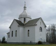 View of the Russo-Orthodox Church of the Transfiguration (Star Edna) Church, Lamont County, looking southeast (October 2005); Lamont County, 2005