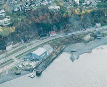 Aerial view of Davie Shipyard; Parks Canada Agency/Agence Parcs Canada, HRS 0838.