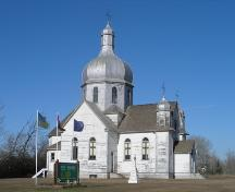 View of the Ukrainian Catholic Church of Spasa (Muskalik), Lamont County, looking northwest (October 2005); Lamont County, 2005