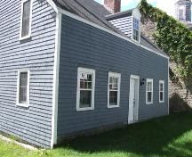 Rear and south elevation, Kennedy House, Sydney, Nova Scotia, 2007. ; Heritage Division, NS Dept. of Tourism, Culture and Heritage, 2007.