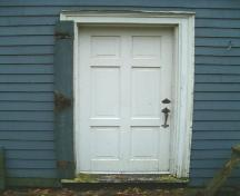 Rear entrance, Kennedy House, Sydney, Nova Scotia, 2004. ; Heritage Division, NS Dept. of Tourism, Culture and Heritage, 2004.