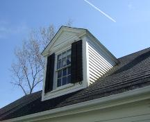 This photograph shows one of the gabled dormers on Cory Cottage, 2007; Town of St. Andrews