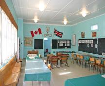 Interior view of Hilbre School, Hilbre, 2006; Historic Resources Branch, Manitoba Culture, Heritage and Tourism, 2006